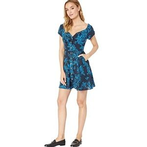 Free People A Thing Called Love Mini Dress - Blue